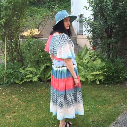 Kleid mit Palmenmotiv