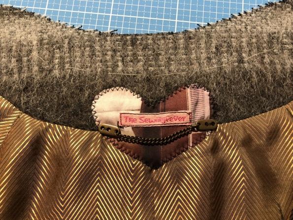 Kuschelige Jacke in Boule Form