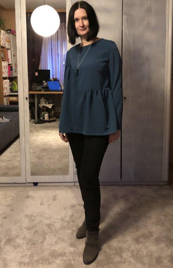 Shirtbluse mit Raffungen